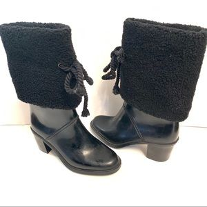 Marc By Marc Jacobs Lined High Heel Rubber Boots
